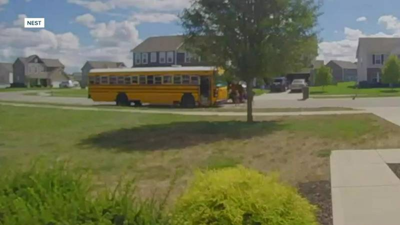 Prosecutors charged the UPS driver with passing a school bus when the arm signal is extended.