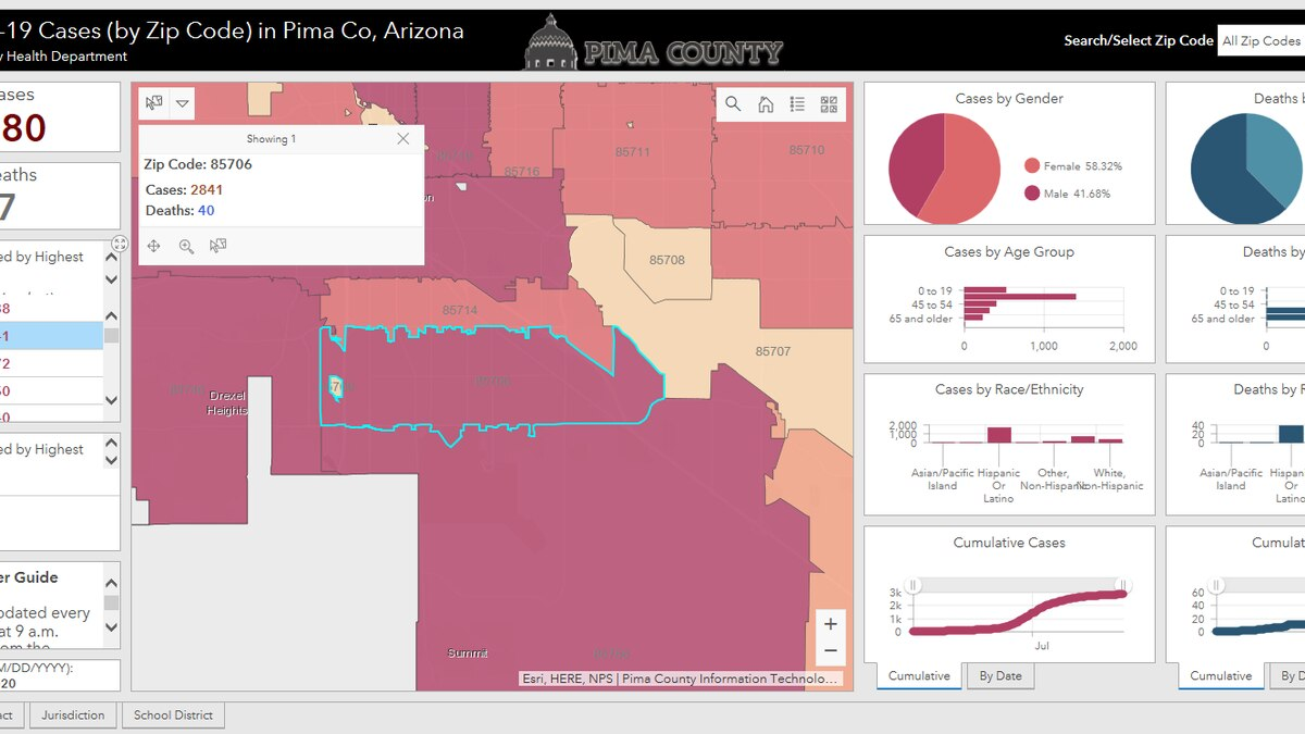 Pima County introduces Covid tracking map
