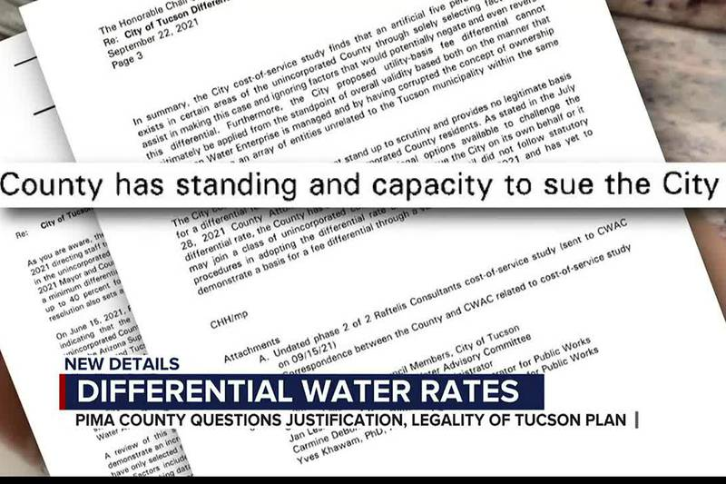 Differential water rates