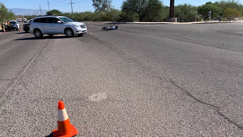 A motorcyclist died following a two-vehicle crash near River and Campbell in Tucson on Monday,...