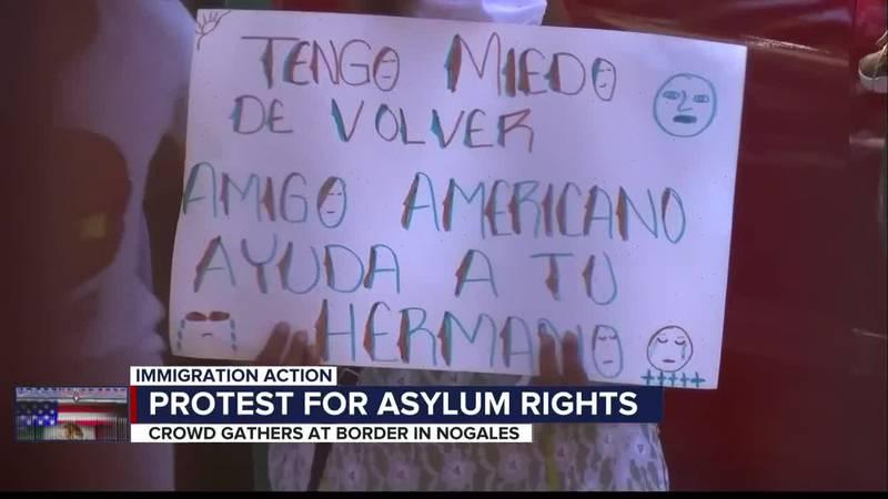 Nogales Asylum Demonstration