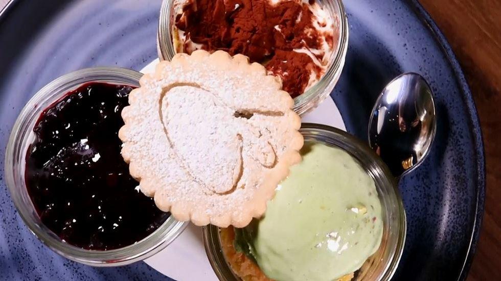 The Dessert Trio served at Bellissimo at The Casino Del Sol.