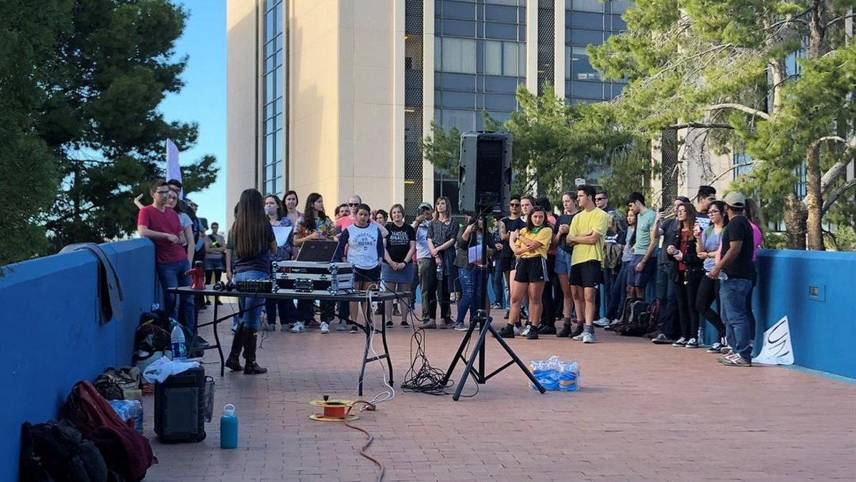 Demonstration in downtown Tucson. (Source: Tucson News Now)
