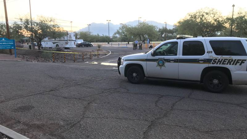 Pima County Sheriff's Department deputies are at Flowing Wells Park, 5510 N. Shannon Road, for...
