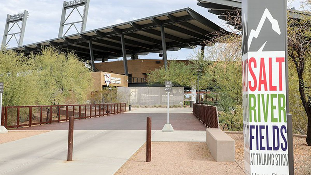 Due to COVID restrictions, fans will not be allowed to view workouts in-person at Salt River...