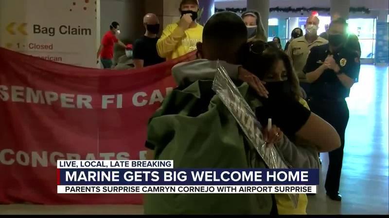 Surprise for Marine return