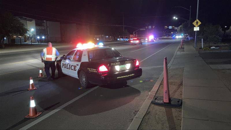 Police are shutting down part of Alvernon Way after a hit-and-run left a man seriously injured.