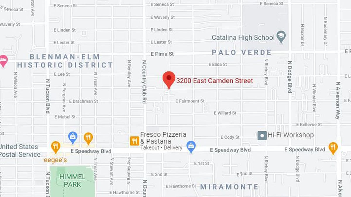 Police are talking with a barricaded suspect in the 3200 block of E. Camden Street on Friday,...