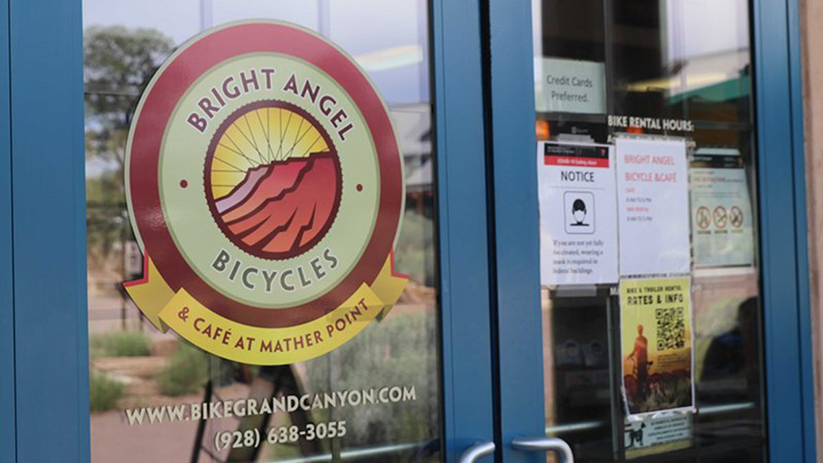 Bright Angel Bicycles at the Grand Canyon still is recovering from the pandemic shutdown in...