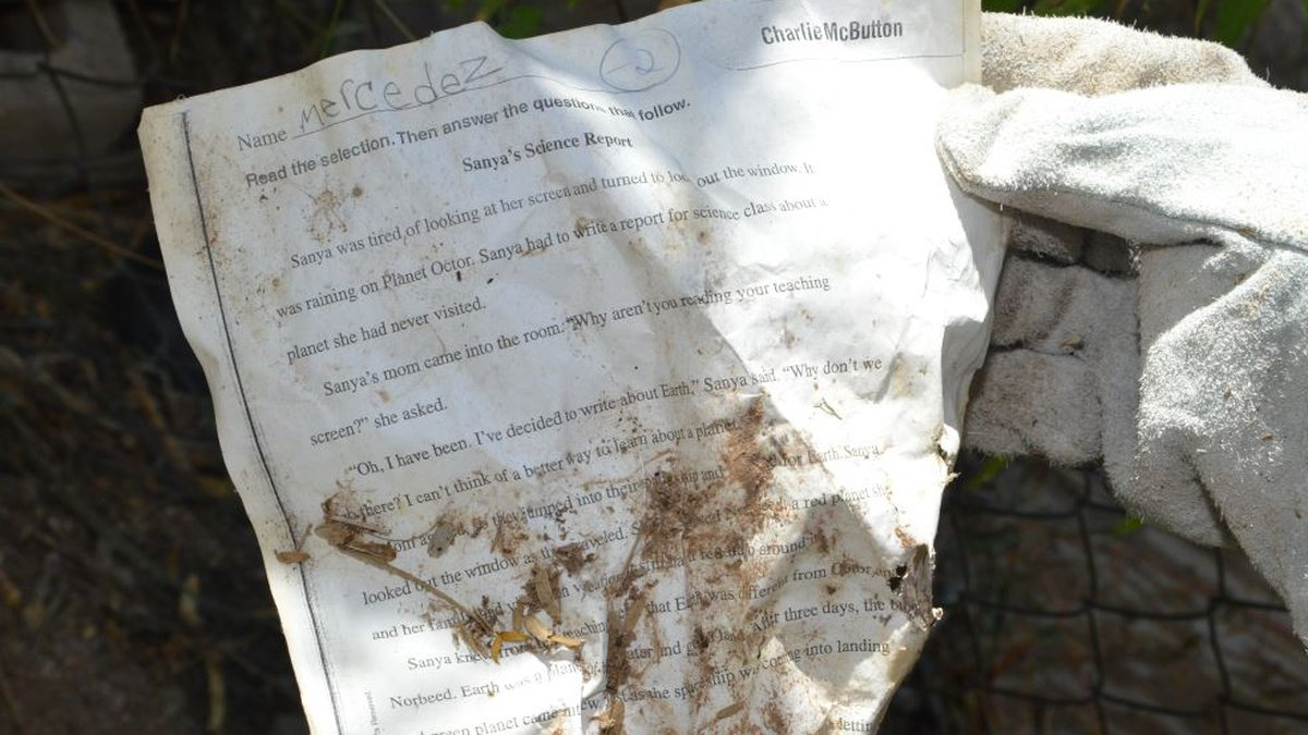 Paper found in Clement's old home in Tucson. (Source: Pima County Attorney's Office)