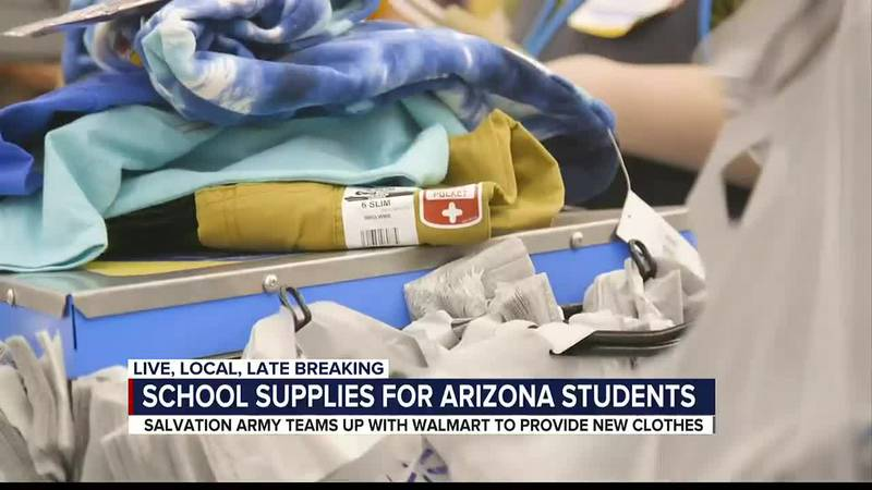 Salvation Army Tucson distributes new clothing, school supplies to 100 children