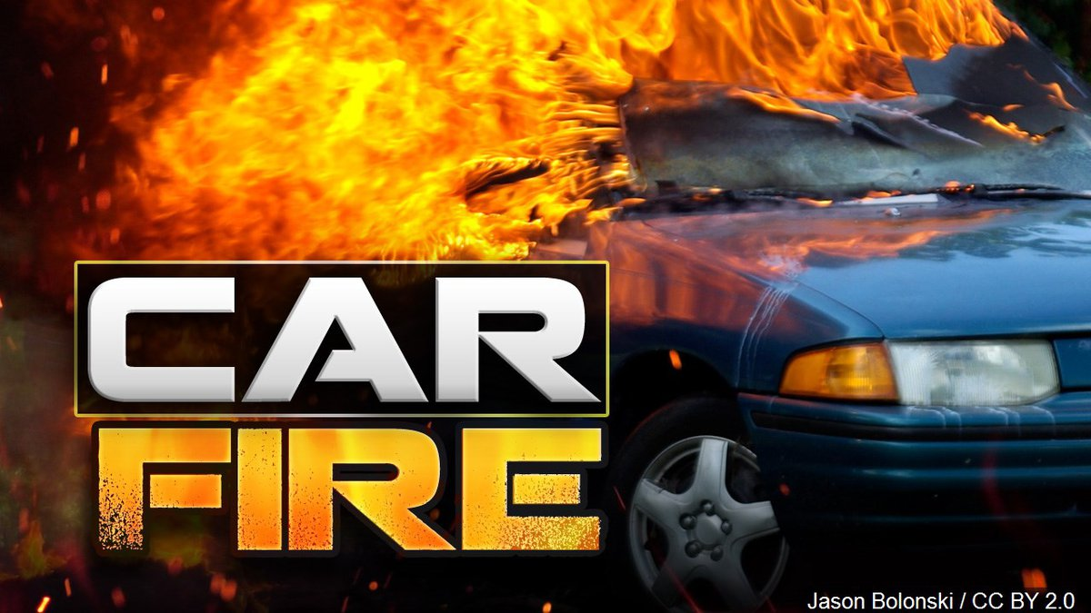 Two cars are on fire after a wreck on I-20 near Congress.