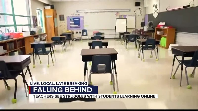 Teachers see students struggle following online learning
