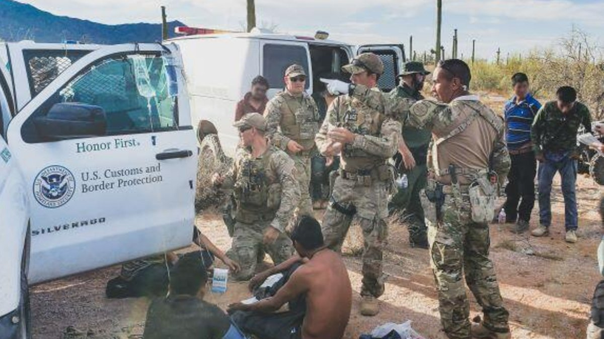 Agents rescued 26 migrants who were stranded south of Gila Bend.
