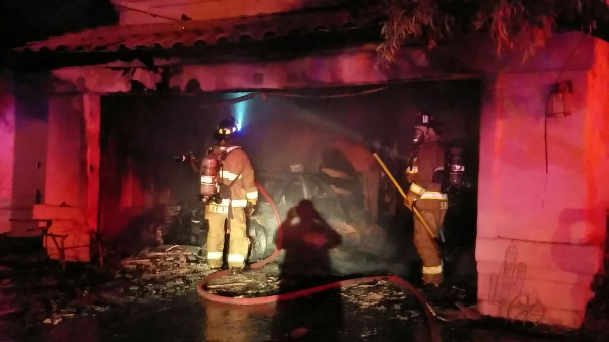 Garage fire that claimed two dogs. (Source: Rural/Metro)