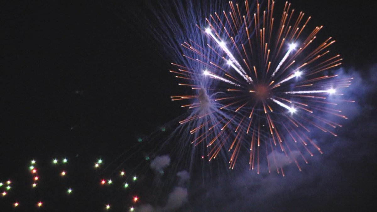 July 4th fireworks show lights up the sky over Charlottesville's McIntire Park.