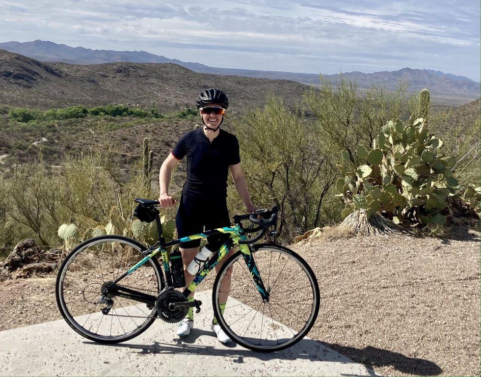 Marie-Soleil Blais with her road bike