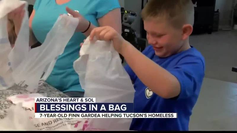 Arizona's Heart & Sol: Tucson kid, family puts together care bags for those in need