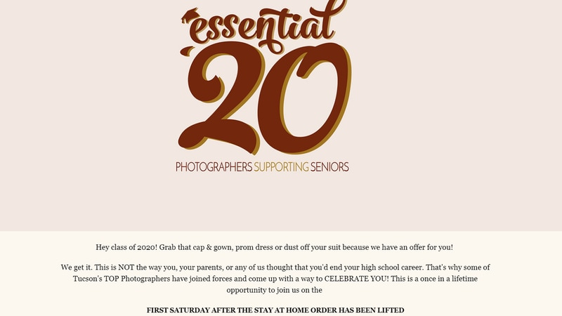 The project called Essential '20 will provide graduating students with a professional photo...