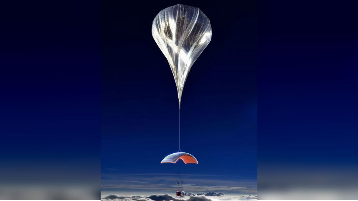 Artist's concept of a World View balloon at the edge of space. (Credit: World View)
