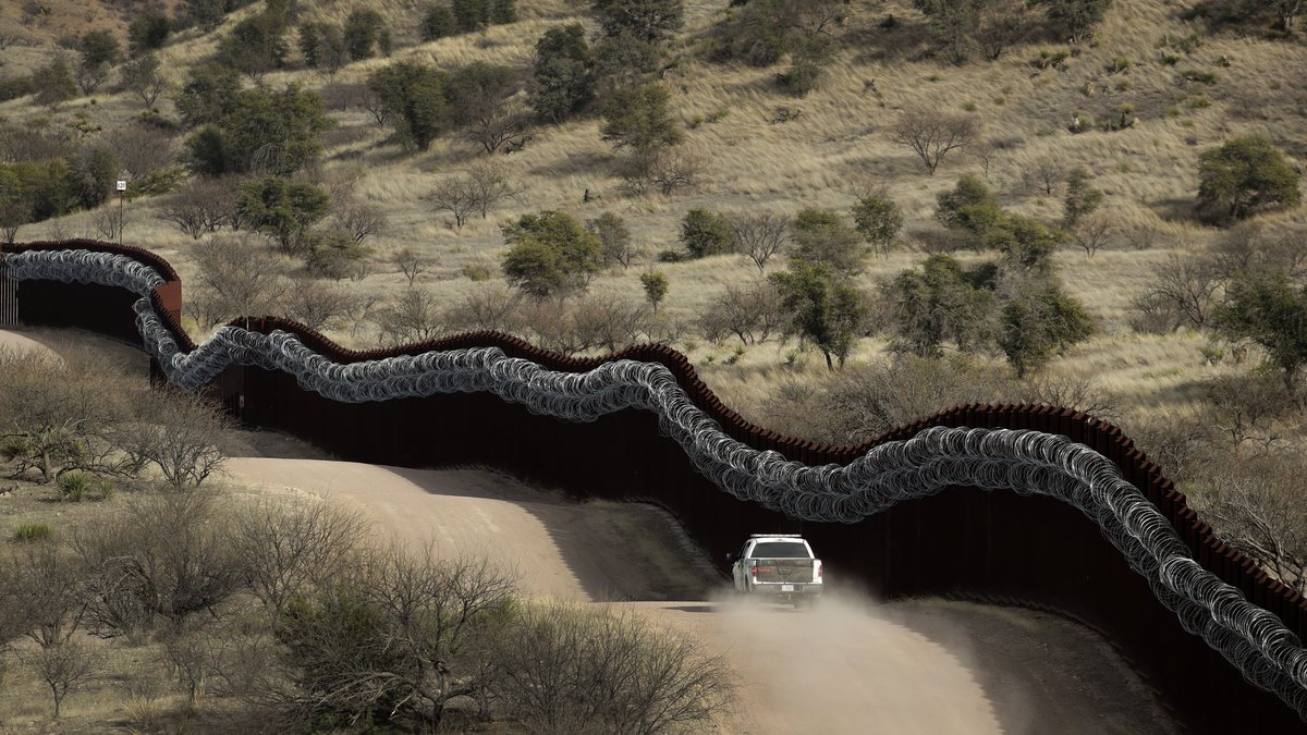 This March 2, 2019, file photo, shows a Customs and Border Control agent patrolling on the US...
