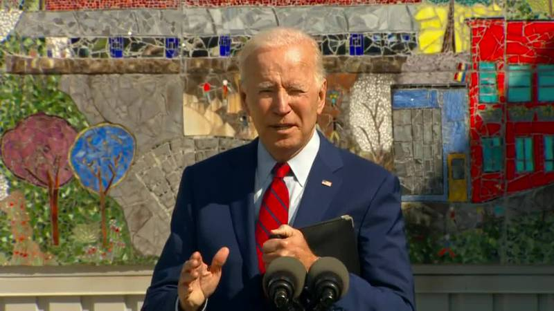 President Joe Biden pushes back against some GOP governors, saying he thinks they've been...