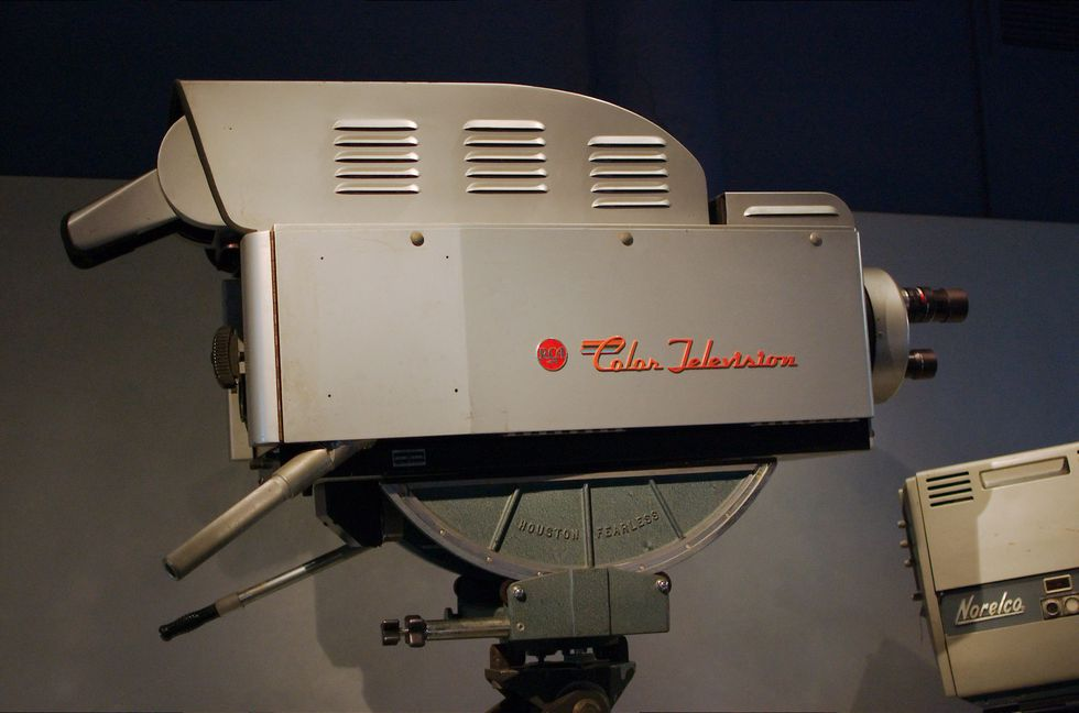 RCA Color Broadcast Camera TK-41C 1954 television camera