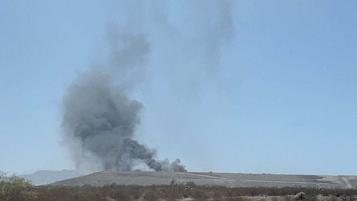 Crews responded to a fire at the Los Reales Landfill in Tucson on Friday, April 30.