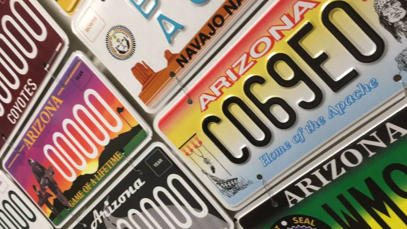Specialty license plate collages (Source: Arizona Department of Transportation/Motor Vehicle...