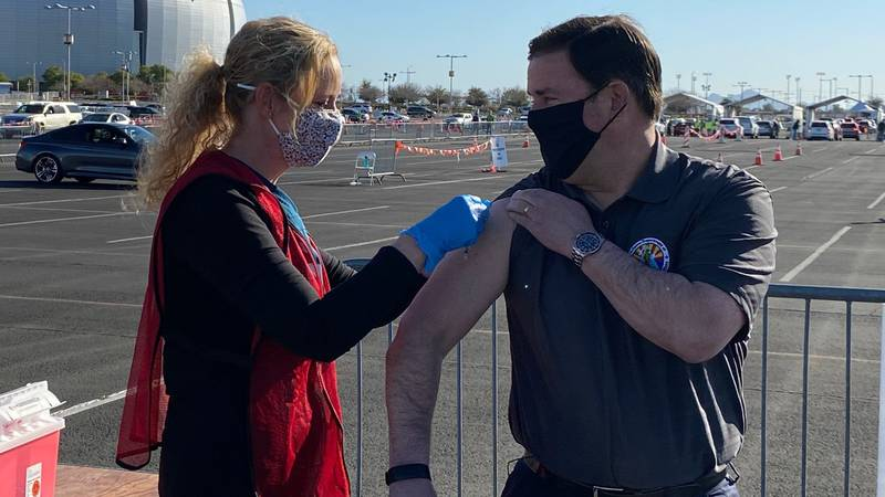 On March 2, 2021, Gov. Doug Ducey received his first COVID-19 vaccine dose.