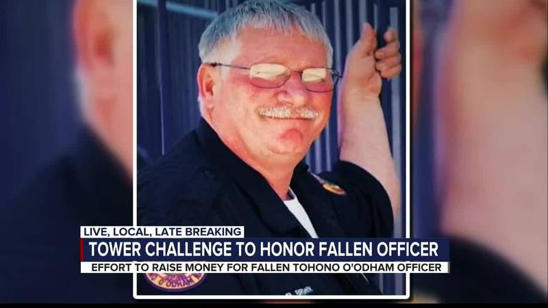 First responders complete Tower Challenge to honor Tohono O'Odham Police Officer Bryan Brown