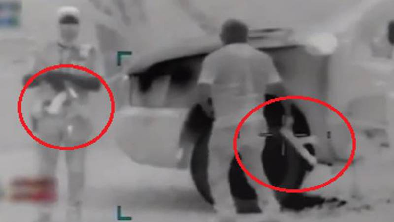 Armed smugglers seen on CBP video (Source: U.S. Customs and Border Protection)