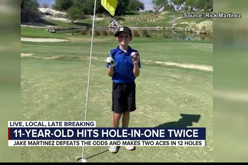 11-year-old hits hole-in-one twice