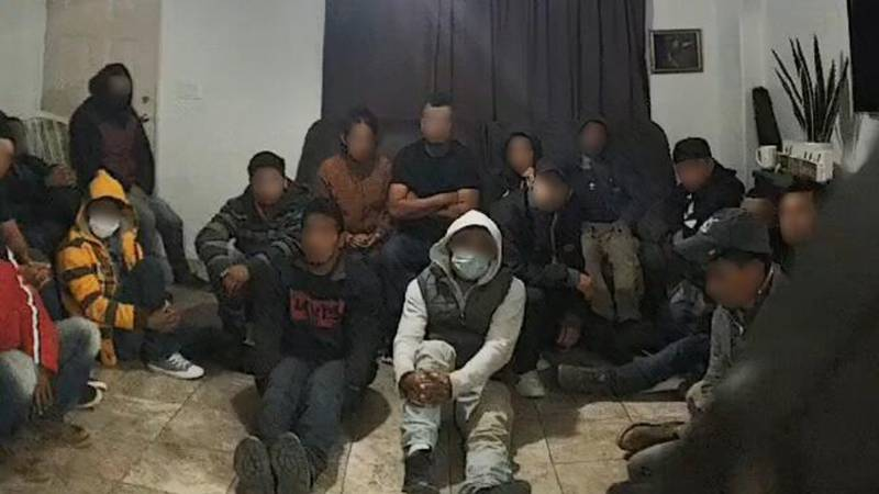 Border Patrol discovered 18 people illegally present in the U.S. in a stash house on Mar. 2.