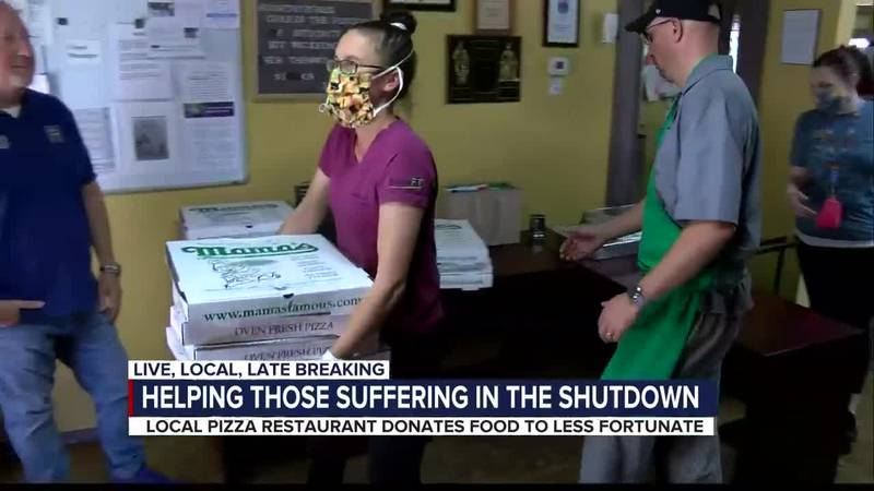 Helpers and Heroes: Mama's Pizza donates food to Gospel Rescue Mission