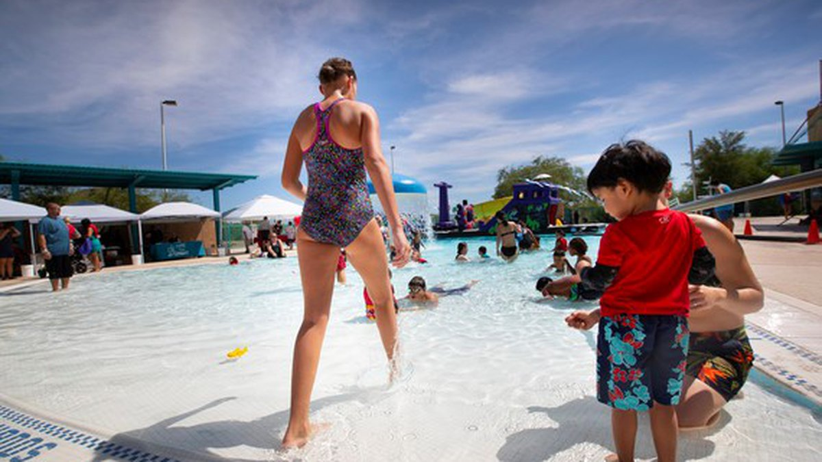 The free swim lessons are part of an overall water safety effort to teach children proper...