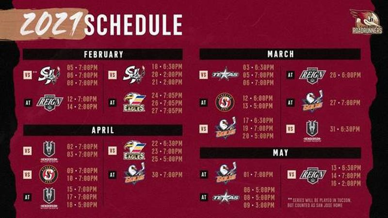 Roadrunners announce season schedule, fan attendance still in discussion