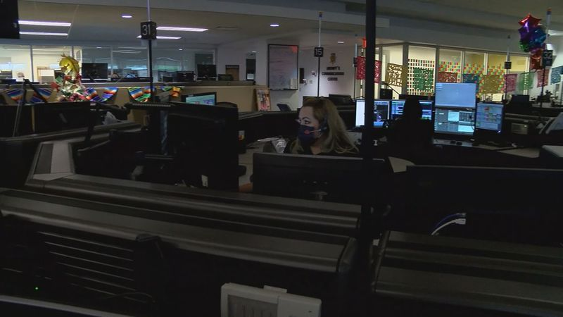 PCSD 911 dispatch call center in Tucson.