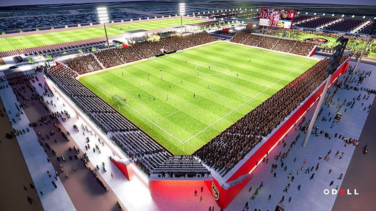 The new stadium at Gila River Indian Communities Wild Horse Pass is expected to be ready for...