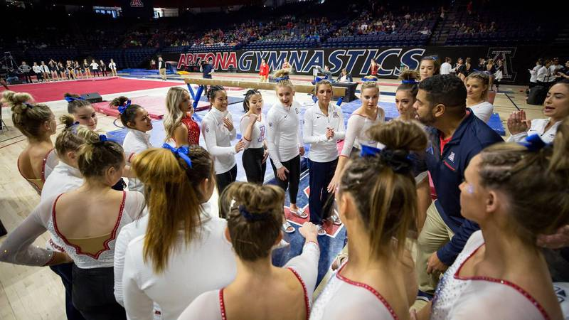 The GymCats scored a 195.950 to win their home opener.