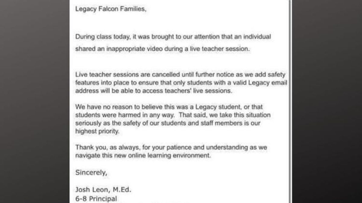 The principal sent a letter to parents before it was learned that a student was the culprit.