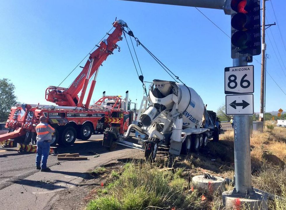Cement truck rollover (Source: Tucson News Now)