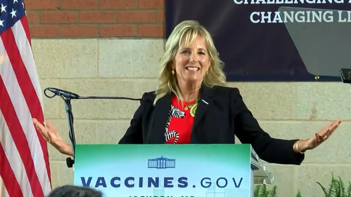 First lady Jill Biden will visit COVID-19 sites in the Phoenix area Wednesday, June 30.