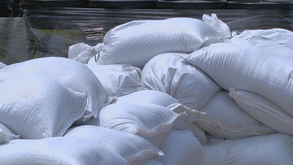 Sand bags are available around the county for those in flood risk areas.