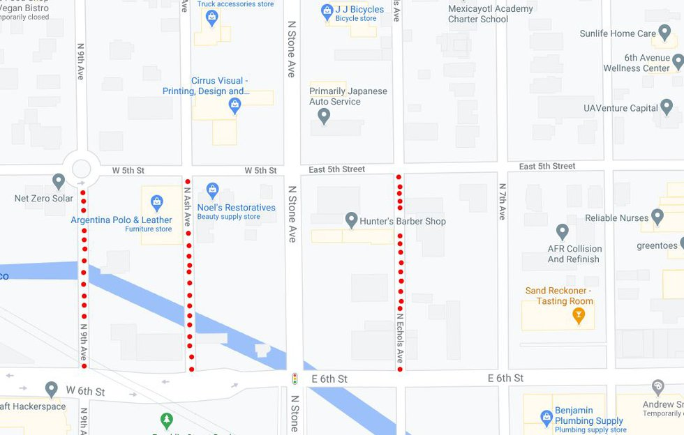 Upcoming road closures for Downtown Links Improvement Project.