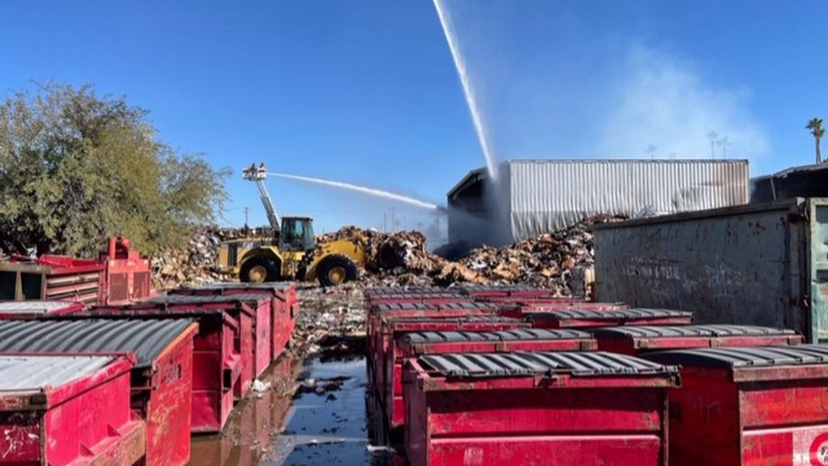 Fire crews respond to recycling plant fire