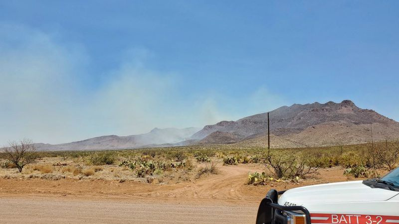 The Winchester Fire burns in the Winchester Mountains west of Willcox on Tuesday, June 15.