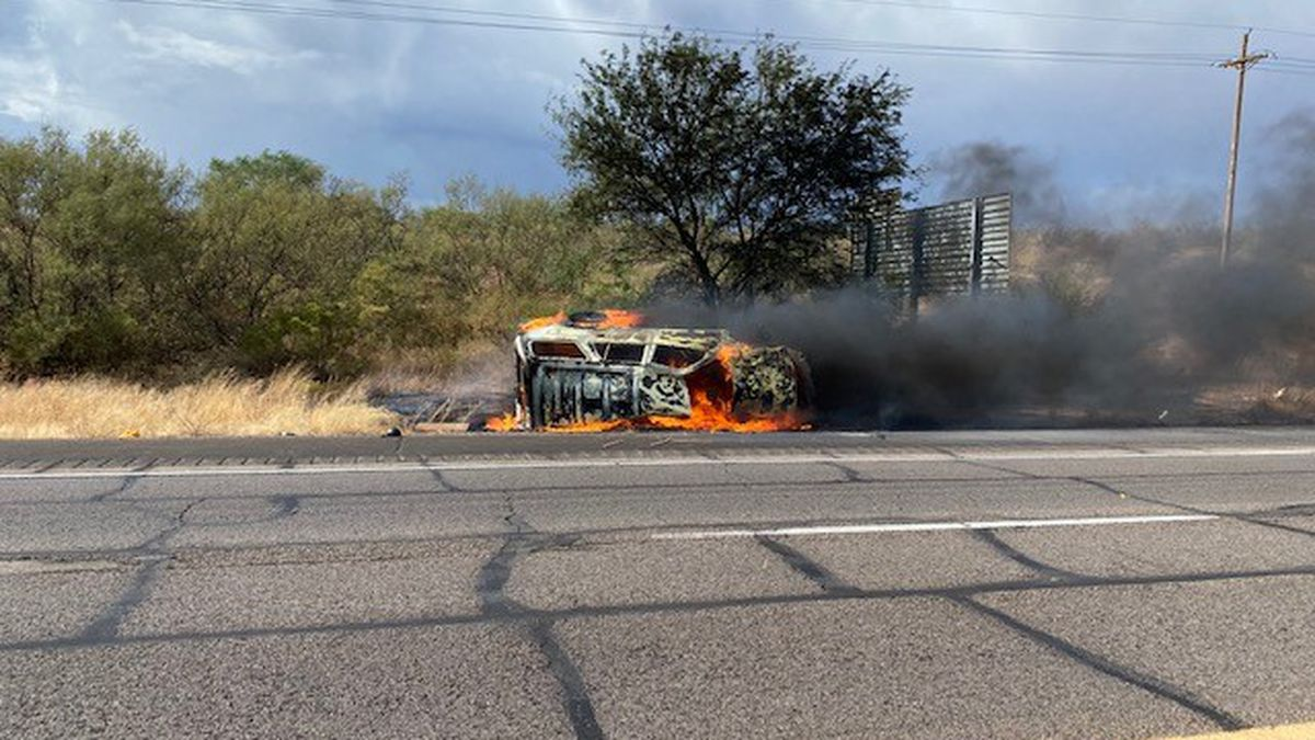 Border agents rescue woman from flaming SUV over the weekend.