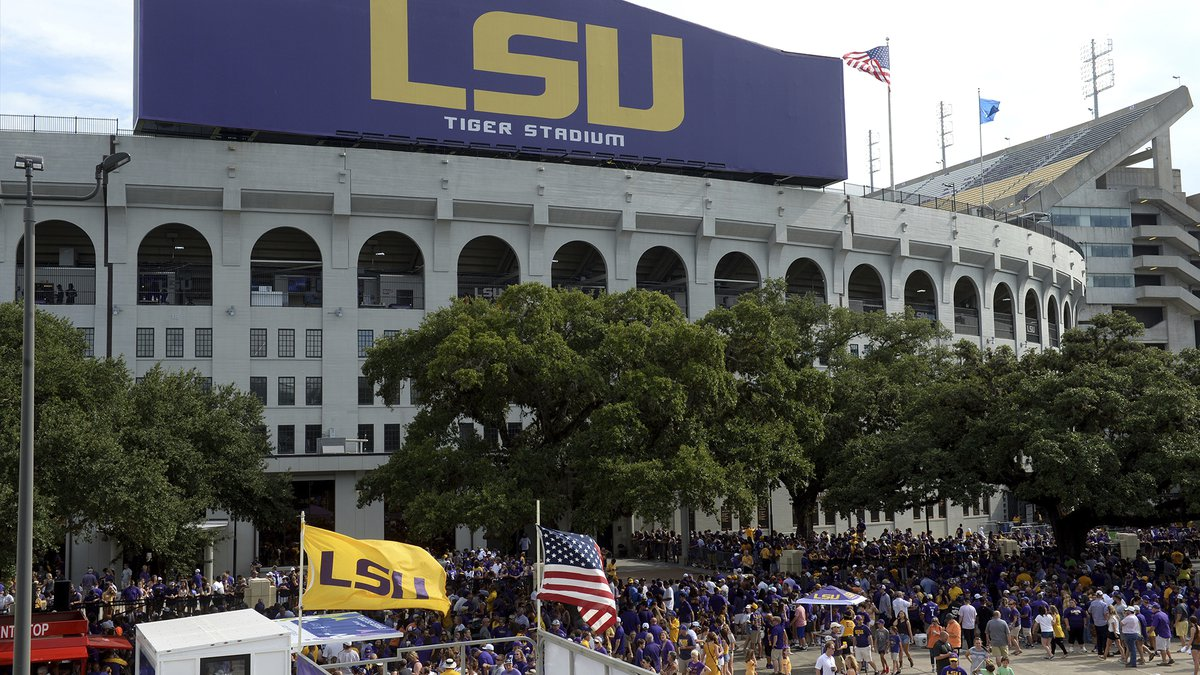 FILE - Tiger Stadium is shown before an NCAA football game between LSU and Northwestern State...