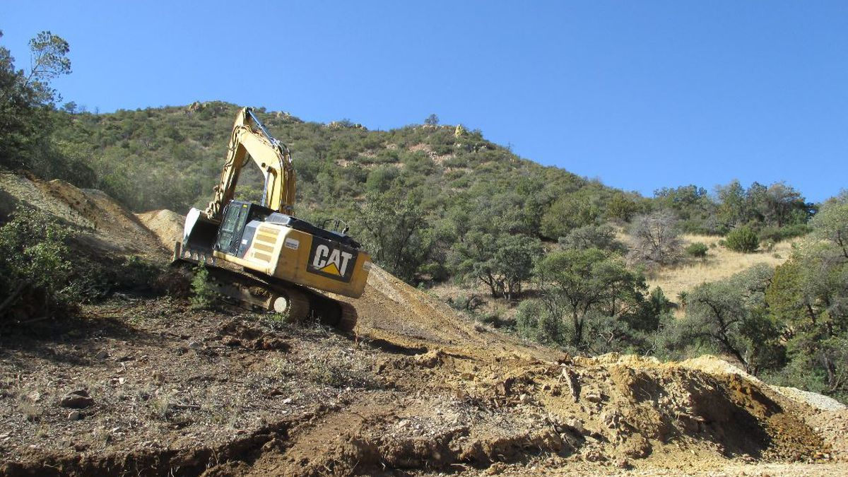 Abandoned mine clean up near Patagonia. (Source: U.S. Forest Service)